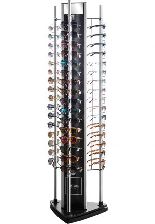 Sunglasses Triangle Floor Display with Lock