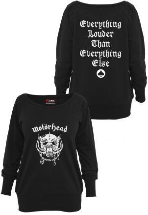 Ladies Motörhead Everything Louder Wideneck Crewneck