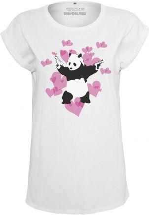 Ladies Banksy Panda Heart Tee