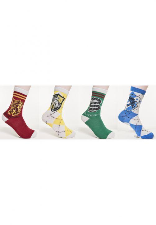 Harry Potter Team Socks 4-Pack