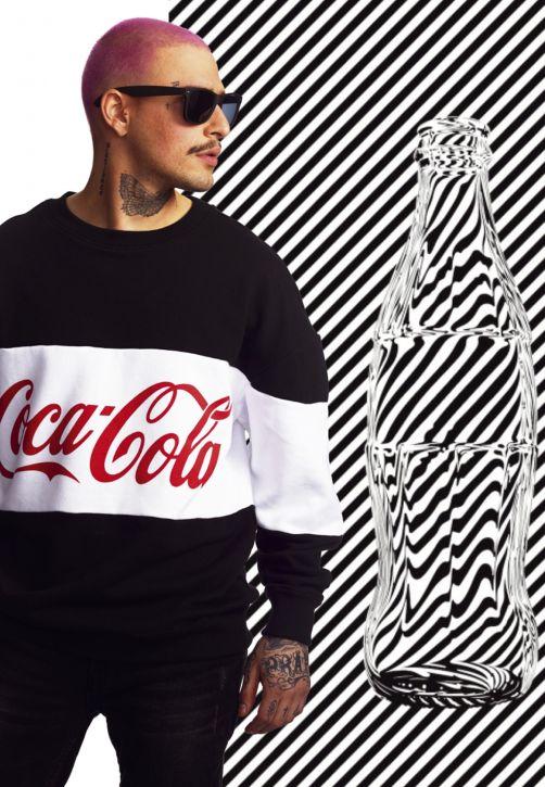 Coca Cola Stripe Oversize Crewneck