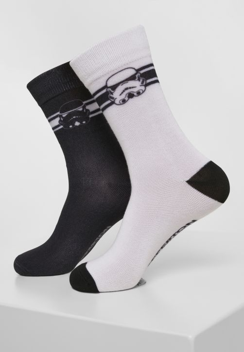 Stormtrooper Head Socks 2-Pack