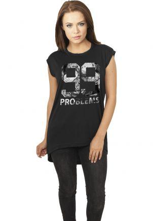Ladies 99 Problems Roses Sleeveless Shirt