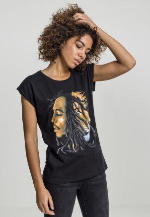 Ladies Bob Marley Lion Face Tee