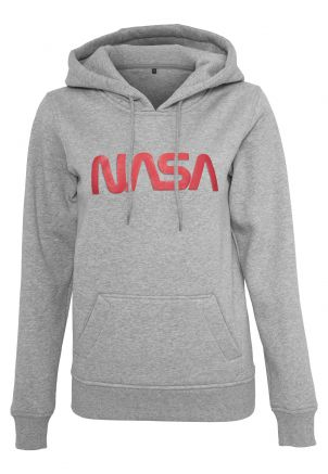Ladies NASA Worm Logo Hoody