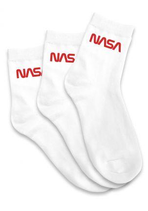NASA Worm Logo Socks