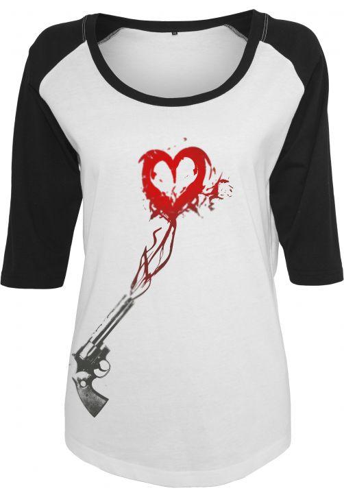 Ladies Pistole Heart Raglan Tee