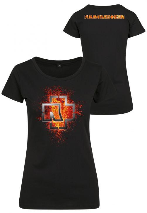 Rammstein Ladies Lava Logo Tee