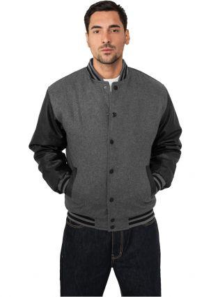 Half-Leather College Jacket