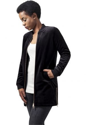 Ladies Long Velvet Jacket
