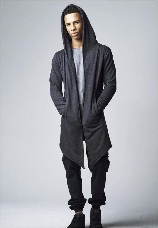 Long Hooded Open Edge Cardigan