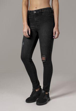 Ladies High Waist Skinny Denim Pants