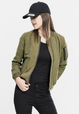 Ladies Peached Bomber Jacket
