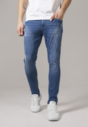 Skinny Ripped Stretch Denim Pants