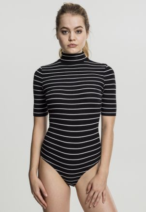Ladies Striped Turtleneck Body