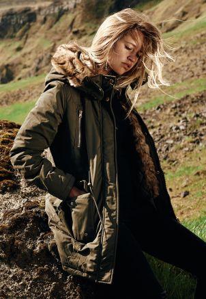 Ladies Imitation Fur Parka