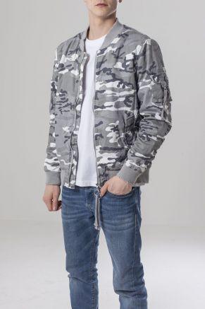 Vintage Camo Cotton Bomber Jacket