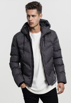 Heringbone Hooded Winter Jacket