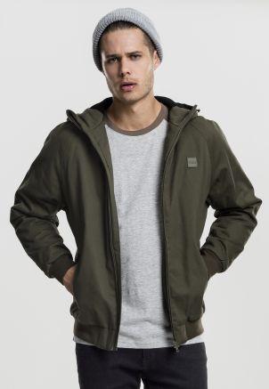 Hooded Cotton Zip Jacket