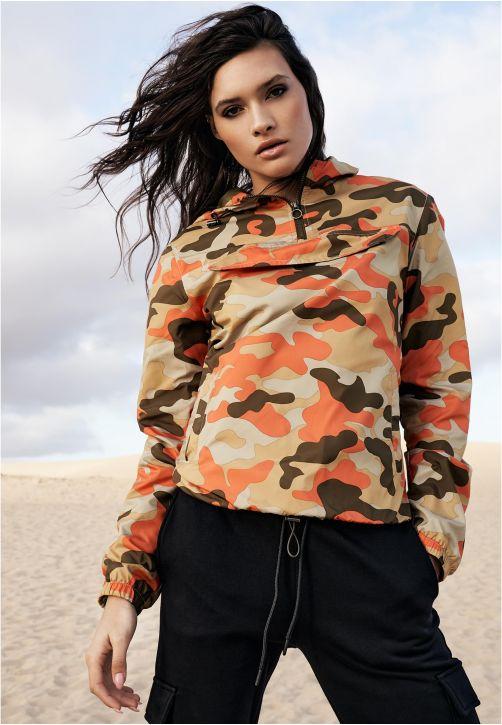 Ladies Camo Pull Over Jacket