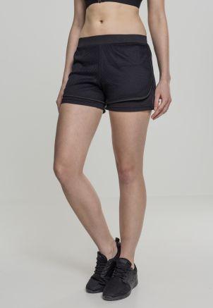 Ladies Double Layer Mesh Shorts