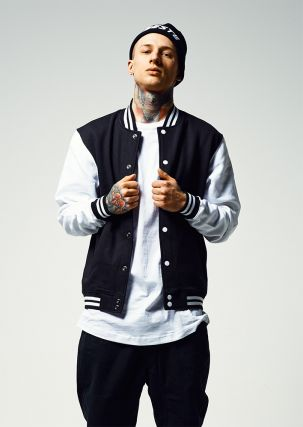 OUTLET · 2-tone College Sweatjacket e386b25550