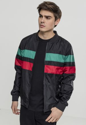 Striped Nylon Jacket