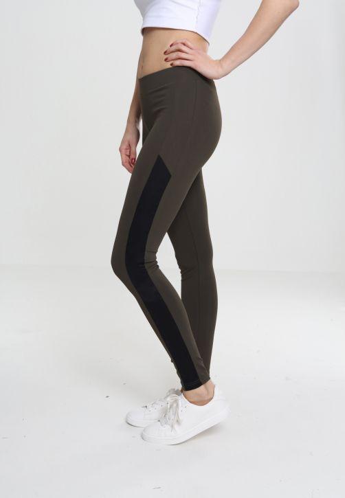 Ladies Jacquard Camo Striped Leggings