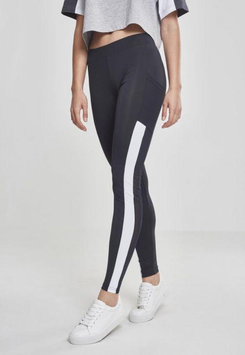 Ladies Tech Mesh Striped Pocket Leggings