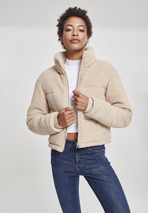 Ladies Boxy Sherpa Puffer Jacket