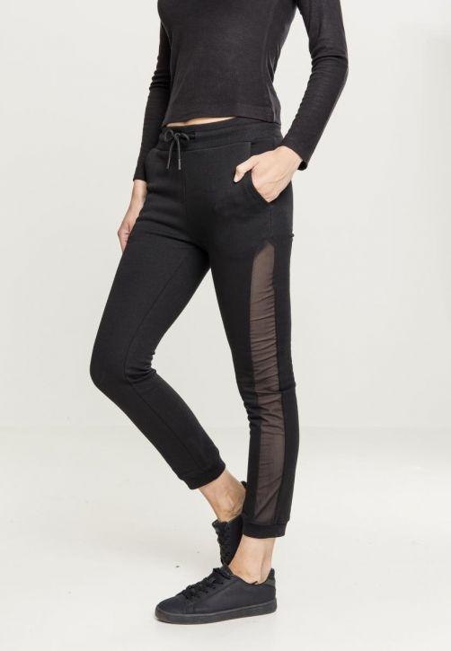 Ladies Tech Mesh Side Stripe Sweatpants