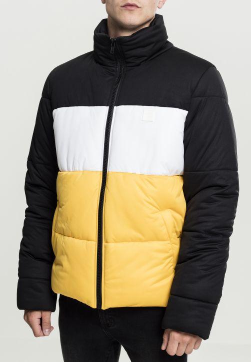 3-Tone Boxy Puffer Jacket