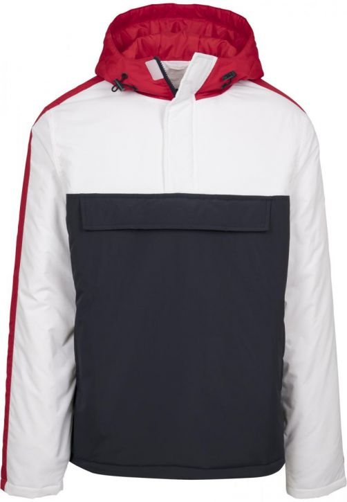 3-Tone Padded Pull Over Hooded Jacket