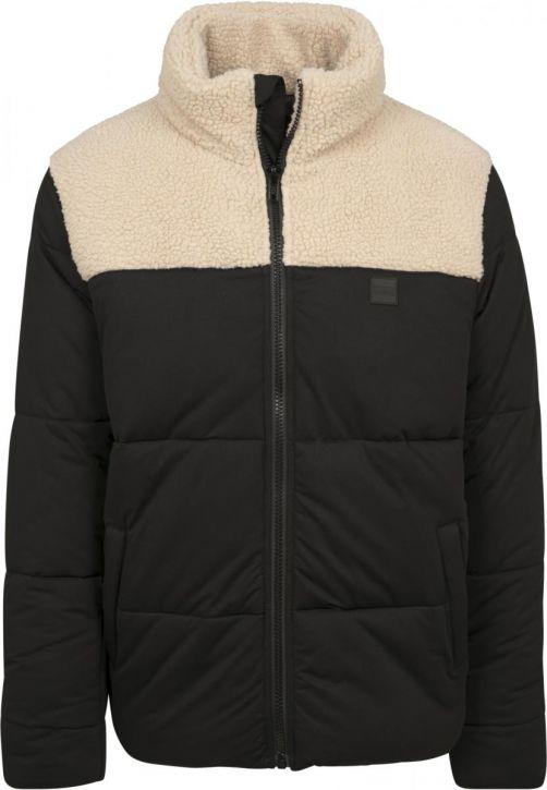 Sherpa Mix Boxy Puffer Jacket