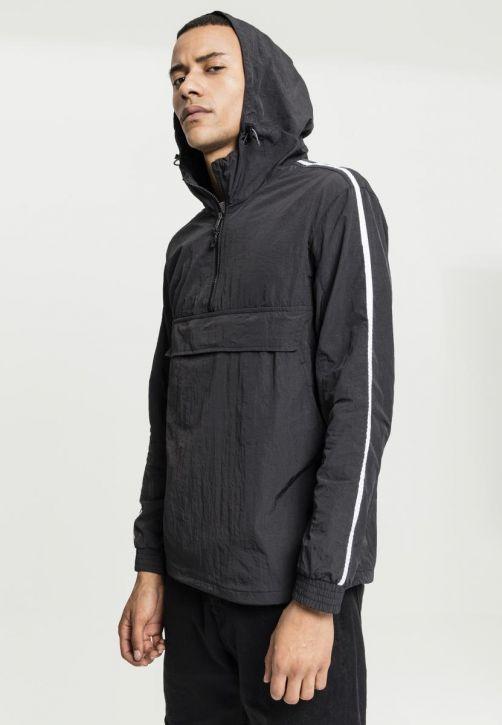 Crinkle Nylon Pull Over Jacket