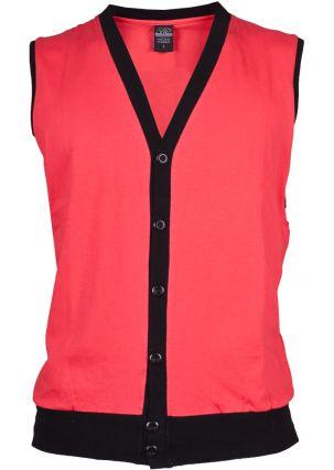 Jersey Button Vest