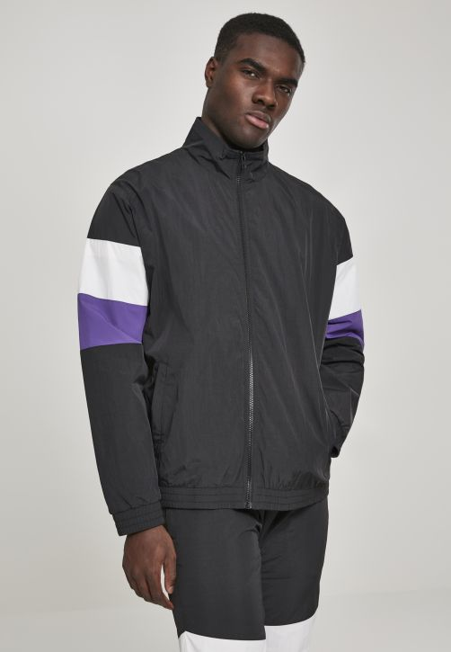 3-Tone Crinkle Track Jacket