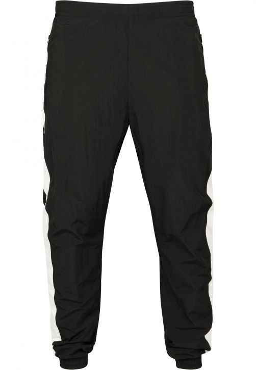 Side Striped Crinkle Track Pants
