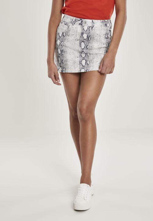 Ladies Animal Stretch Twill Skirt
