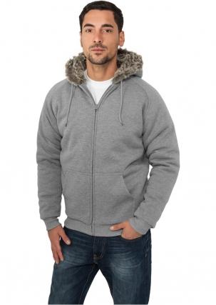Winter Zip Hoody Fur Imitation