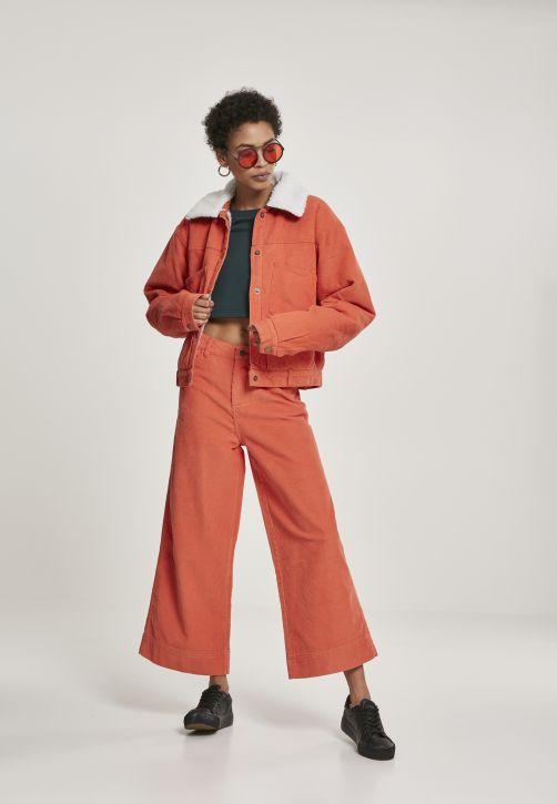 Ladies Oversized Corduroy Sherpa Jacket
