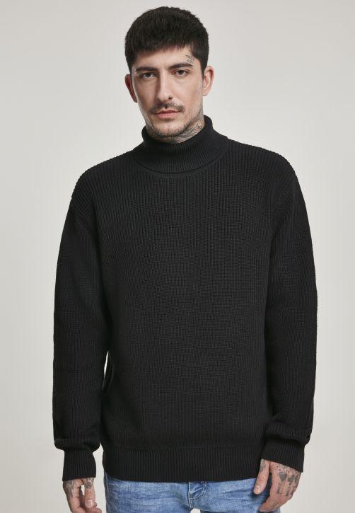 Cardigan Stitch Roll Neck Sweater