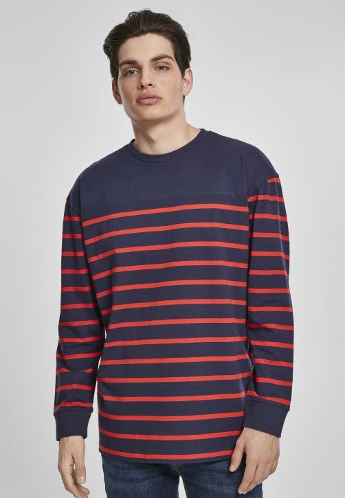 Color Block Stripe Boxy LS