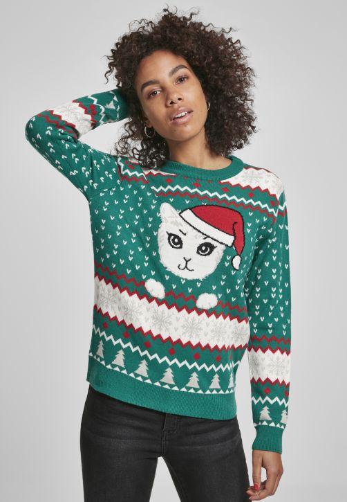 Ladies Kitty Christmas Sweater