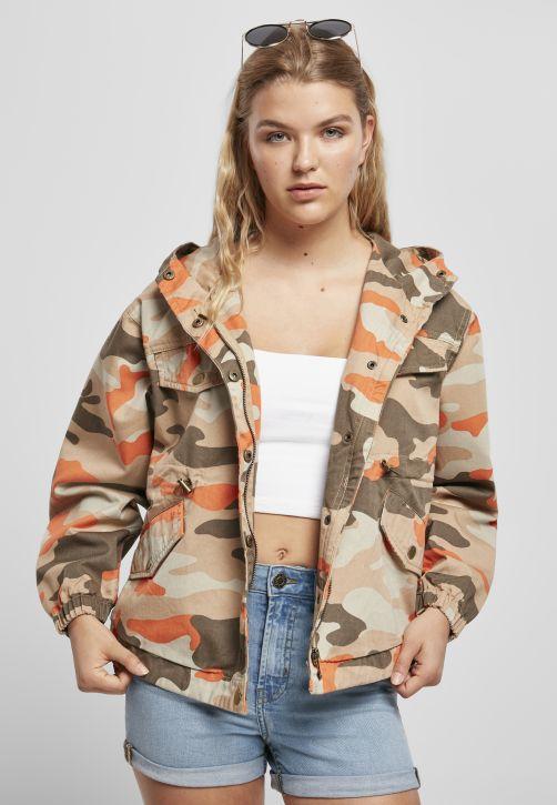 Ladies Oversized Camo Parka Jacket