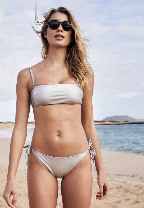 Ladies Shimmering Bandeau Bikini