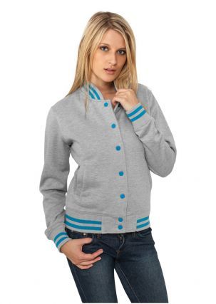 Ladies Metallic College Sweatjacket