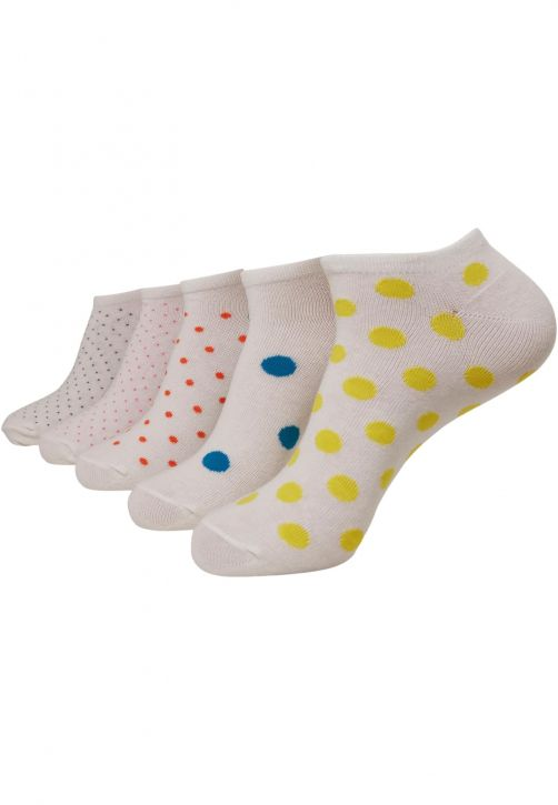 No Show Socks Dots 5-Pack