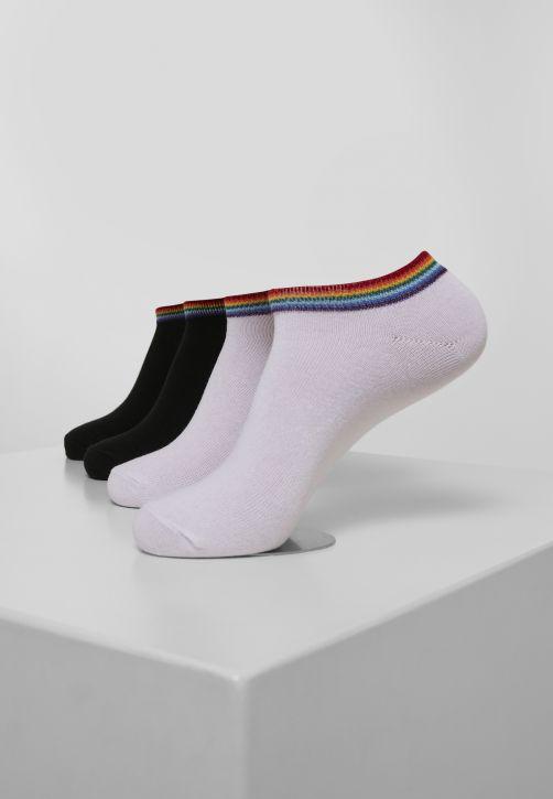 Rainbow Socks No Show 4-Pack
