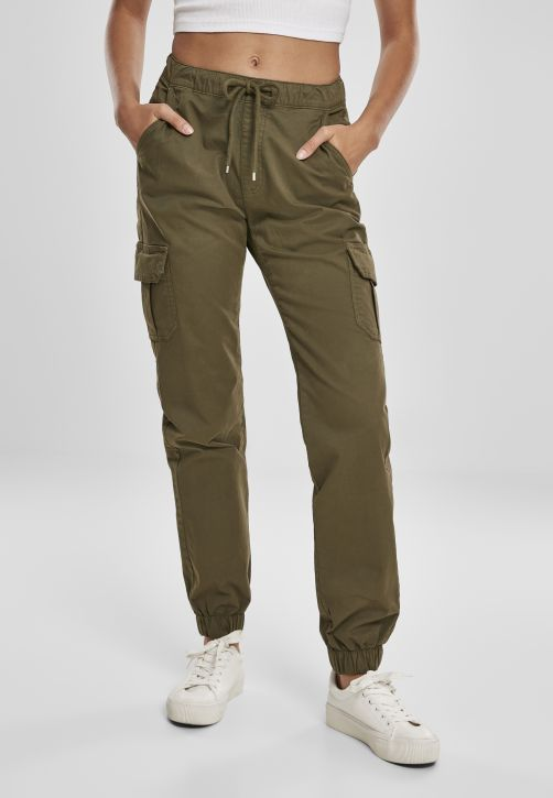 Ladies High Waist Cargo Jogging Pants